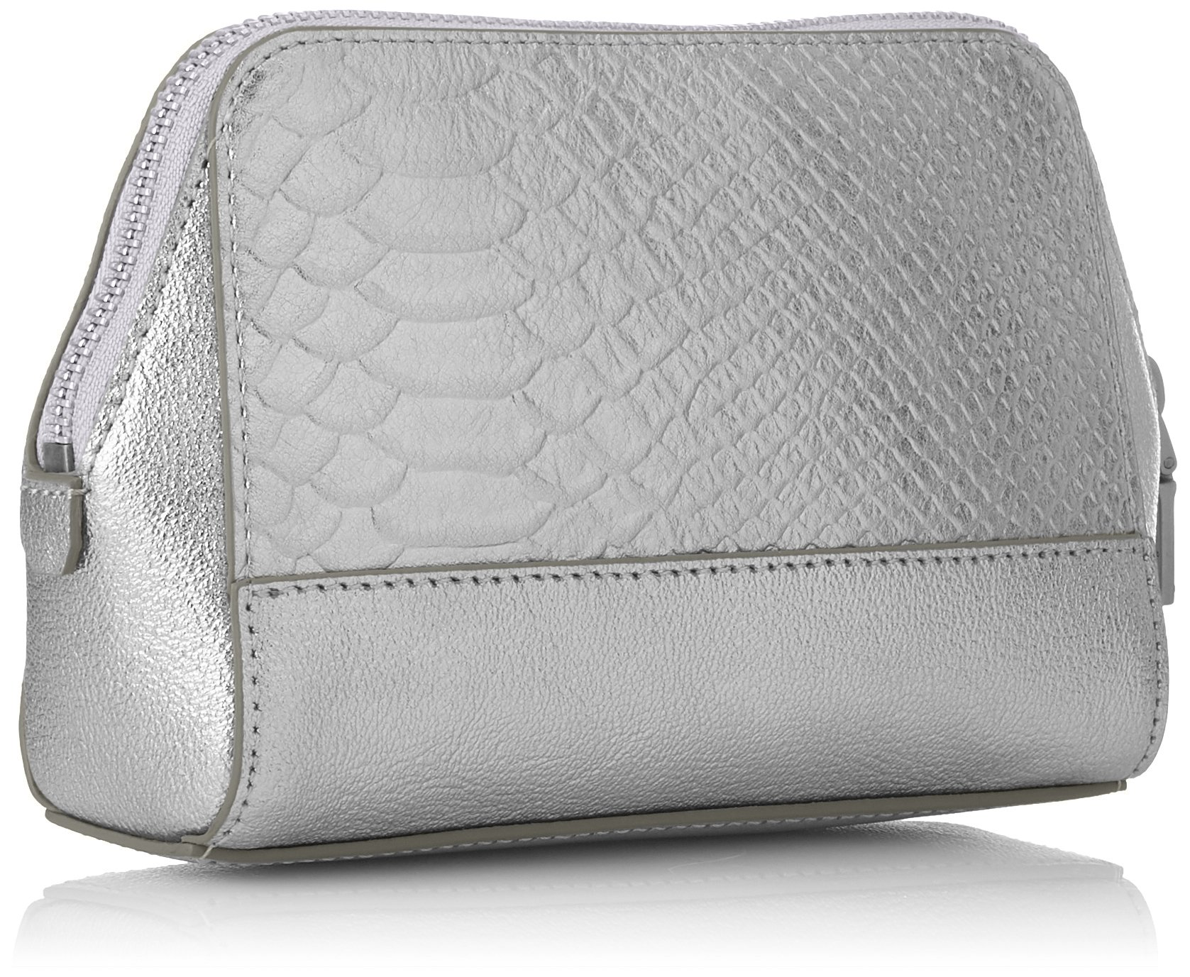Liebeskind Berlin Women's Rhinebeck Metallic Leather Cosmetic Case, Silver by Liebeskind Berlin (Image #2)