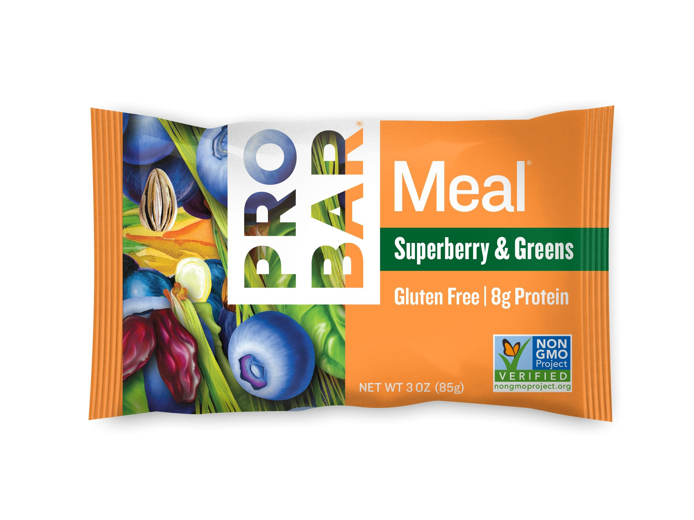 PROBAR - Meal Bar, Superberry & Greens, 3 Oz, 12 Count - Plant-Based Whole Food Ingredients by Probar