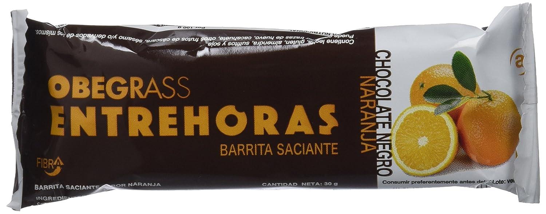 Obegrass Barrita Saciante Entrehoras, Chocolate Negro y Naranja - 20 Unidades: Amazon.es: Salud y cuidado personal