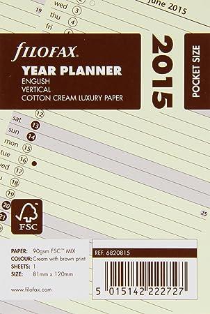 Filofax Pocket - Recambio para agenda de anillas, hoja de ...