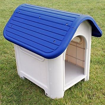 Caseta para perro de plástico impermeable para interior o exterior: Amazon.es: Productos para mascotas