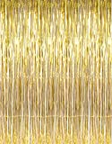 Party Propz Golden Metallic Fringe Foil Curtain, Gold (3 Feet by 6 Feet)