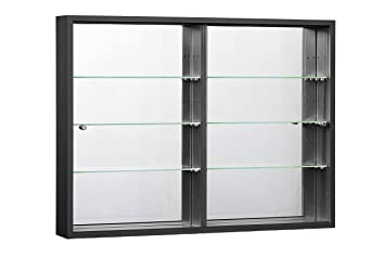 case curio display glass amazon white cabinet kitchen dining wall door com with mounted wh small dp