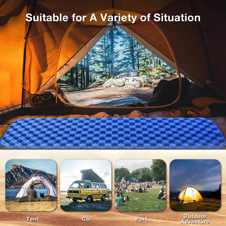 Tent Hammock Inflatable Sleeping Mat Treatlife Ultralight Camping Pad Compact Waterproof Moistureproof Roll Mattress for Hiking Backpacking