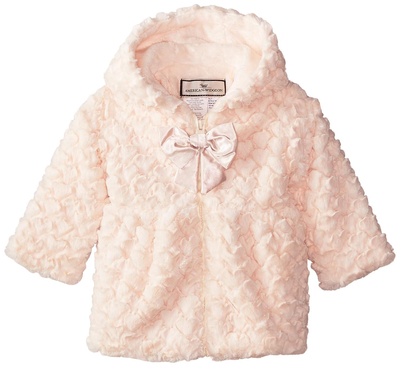 Amazon.com: Widgeon Baby Girls' Hooded Zip Front Faux Fur Coat ...