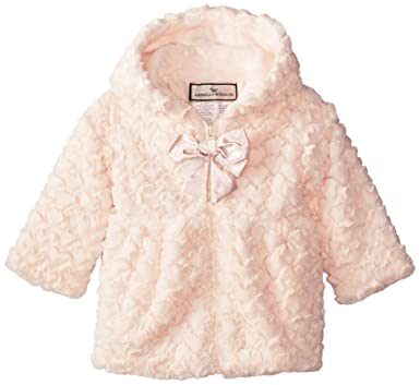 01c09916c Amazon.com  Widgeon Baby Girls  Hooded Zip Front Faux Fur Coat ...