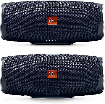 Amazon Com Jbl Charge 4 Portable Waterproof Wireless Bluetooth Speaker Bundle Pair Black Home Audio Theater