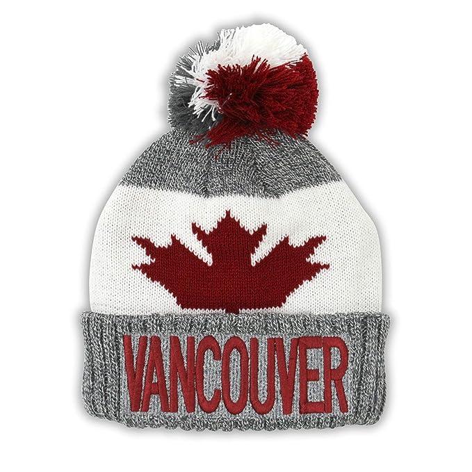 Amazon.com  Vancouver Sport Warm Winter Hat Beanie True North Travel Canada  Tuque  Clothing e464c6e6555