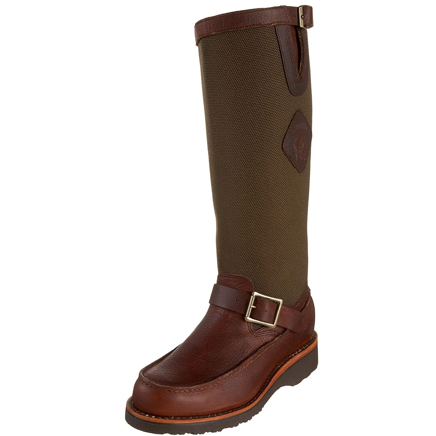 "Chippewa Men's 17"" Back Zip Mocc Toe Pull On 23922 Snake Boot"