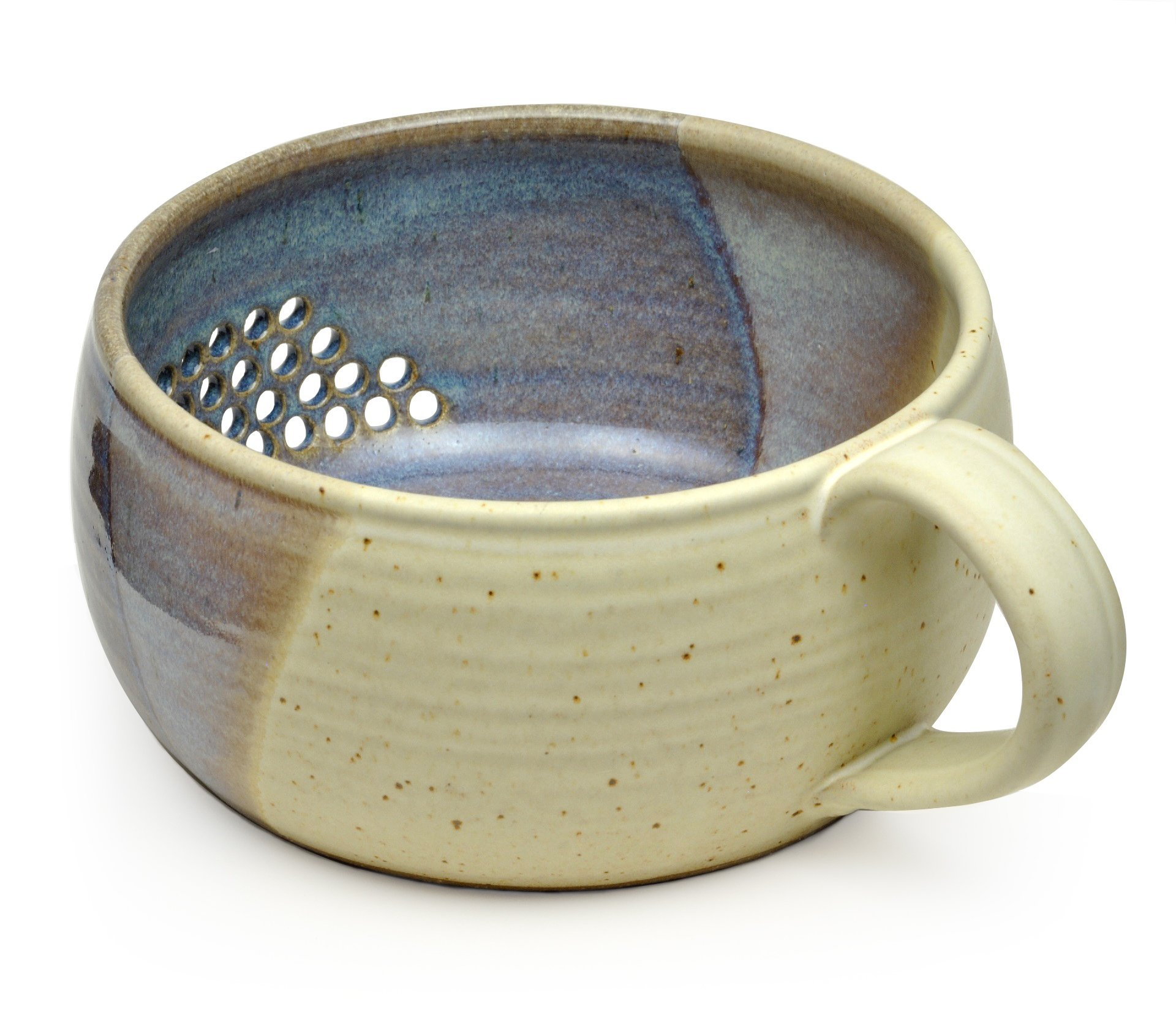 GW Pottery Handmade Stoneware Berry Bowl/Colander, Blue-White by Geoff Walsh Pottery (Image #1)