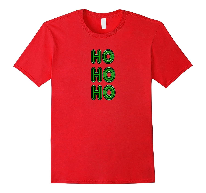 80's Vintage Neon Sign Green Ho Ho Ho Ugly Christmas T-Shirt