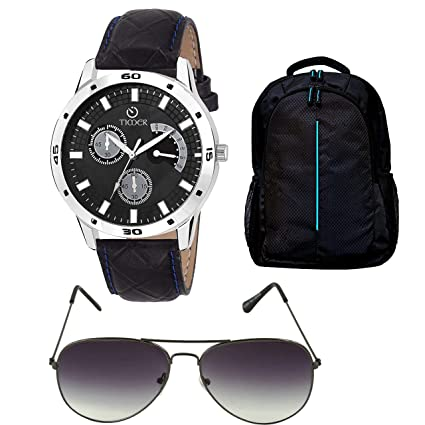 248b7dd88a30a Timer Combo of Laptop Bag and Chronograph Black Dial Watch with Sunglass  for Men   Boys - Buy Timer Combo of Laptop Bag and Chronograph Black Dial  Watch ...