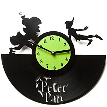 Amazon.Com: Peter Pan Clocks - Vinyl Clocks - Vinyl Wall Clocks