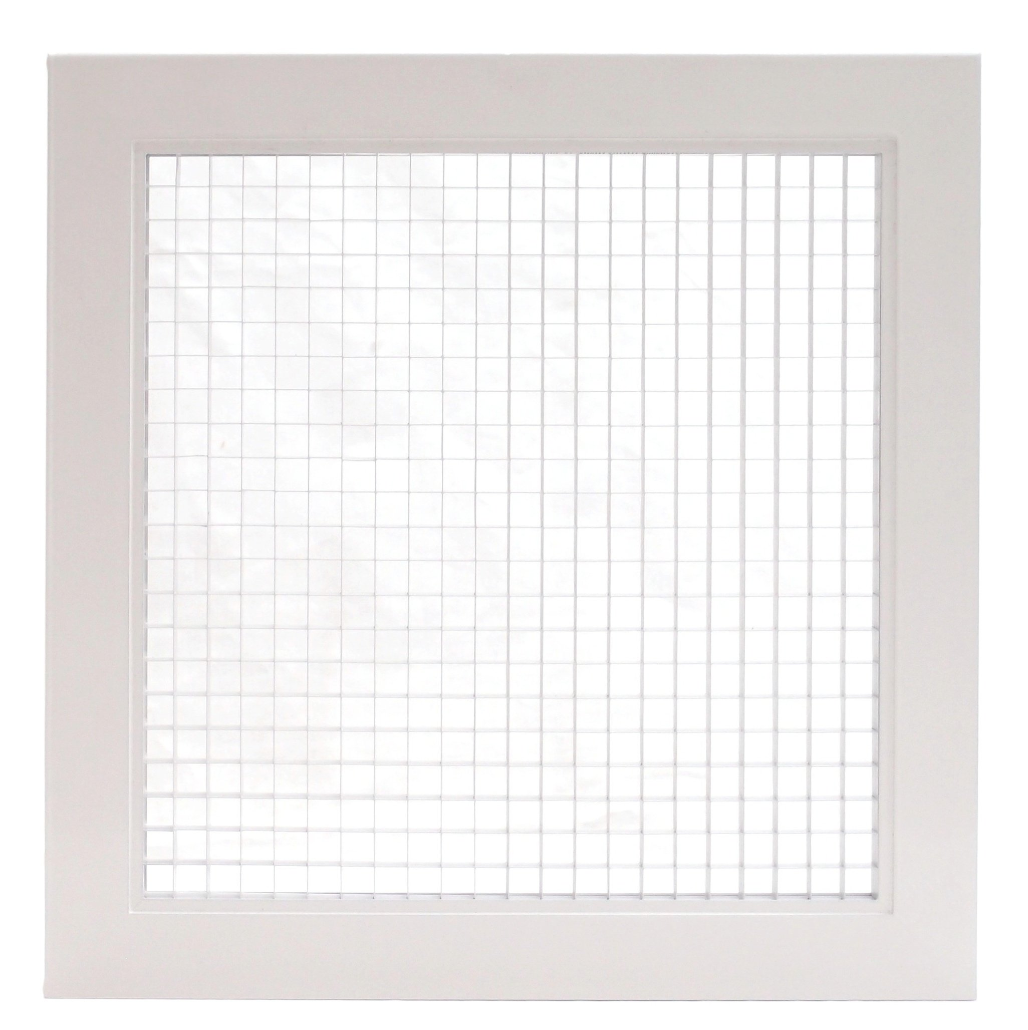 12'' x 30'' Cube Core Eggcrate Return Air Grille - Aluminum Rust Prrof - HVAC Vent Duct Cover - White [Outer Dimensions: 14.5'' w X 32.5'' h]