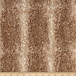E.Z Fabric Minky Ocelot Snuggle Fawn Yard