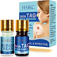 HSBCC Updated Skin Tag Remover & Mole Remover Set,Skin tag removal & Natural Repair Gel, Safe & Effective, Easy to use…