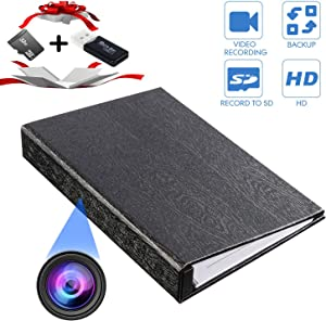 YTVISON Hidden Camera 1080P HD Book Battery Powered Camera Spy Cam Video Recorder- Loop Recording with 32GB Pre-Installed Surveillance Camera for Home Office Hotel Nanny -No WiFi Needed