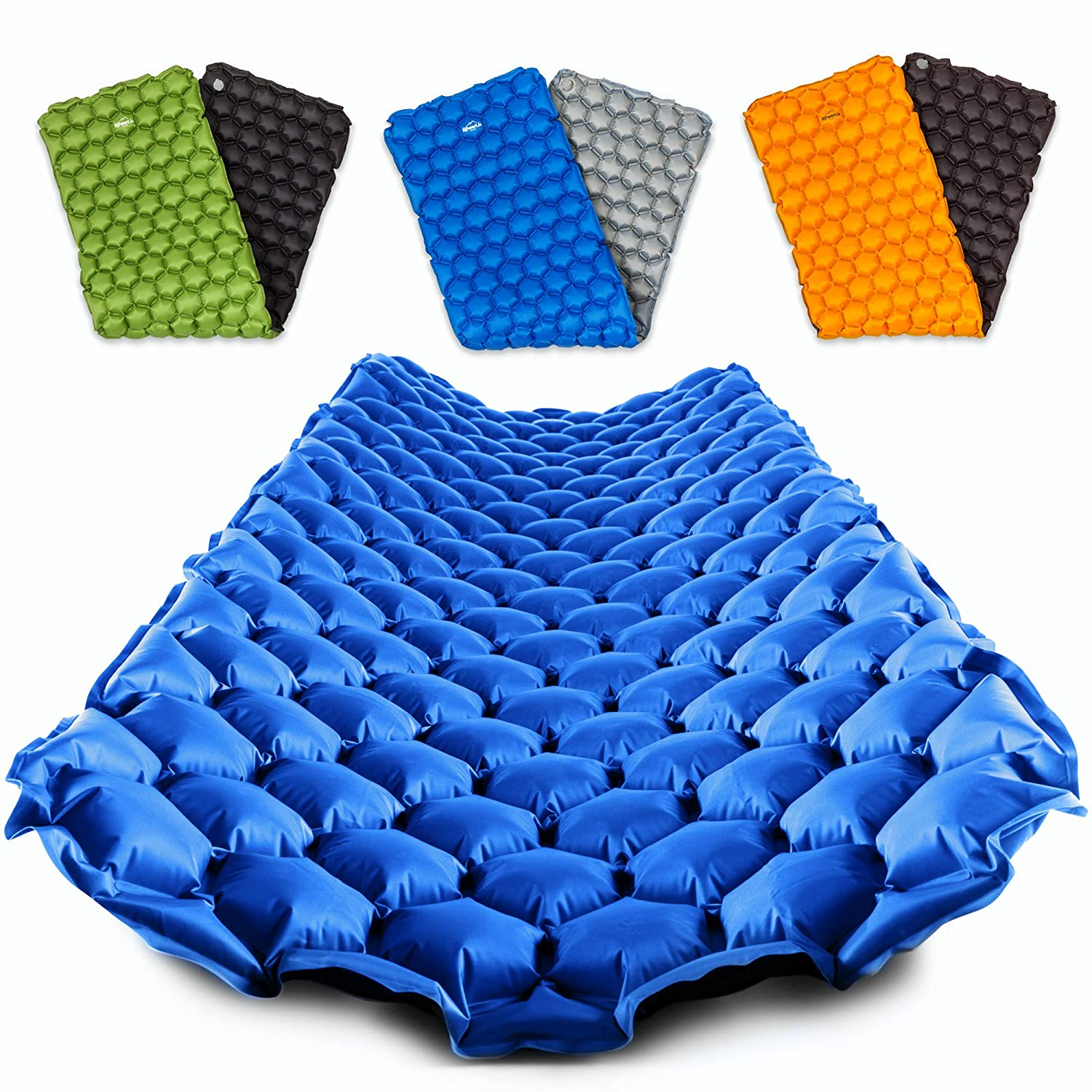 POWERLIX Sleeping Pad – Ultralight Inflatable Sleeping Mat, Best Self Serving Pad for Camping, Backpacking, Hiking – Airpad, Inflating Bag, Carry Bag, ...