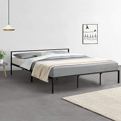 en.casa] Cama de Metal con Somier Minimalista 180 x 200 cm ...