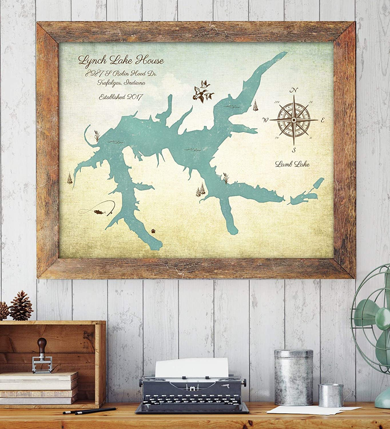 Amazon.com: Lake House Decor, Lake House Sign, Custom Lake Map, Lake Decor,  Custom Lake Map, Family Cabin Art, Rustic Home Decor, Family Lake House: ...