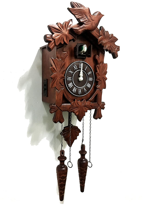 Rylai Vintage Wall Clock Handcrafted Wood Cuckoo Clock-N.DIM. 33x24 CM