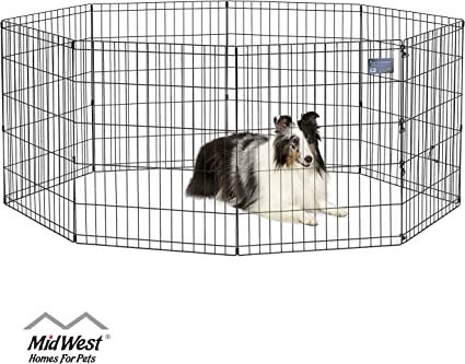 Dog Pen Kennel Playpen Outdoor Indoor Small Pet Puppy Exercise Cage Enclosure