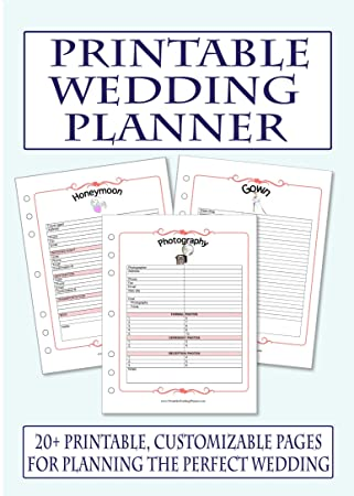 photograph regarding Printable Wedding Planner titled Printable Wedding ceremony Planner CD-ROM: .british isles: Business office Goods