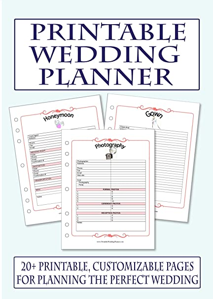 Printable Wedding Planner CdRom AmazonCoUk Office Products