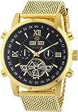 Constantin Durmont Herren-Armbanduhr XL Calendar Analog Automatik Edelstahl beschichtet CD-CALE-AT-GDM2-GDGD-BK