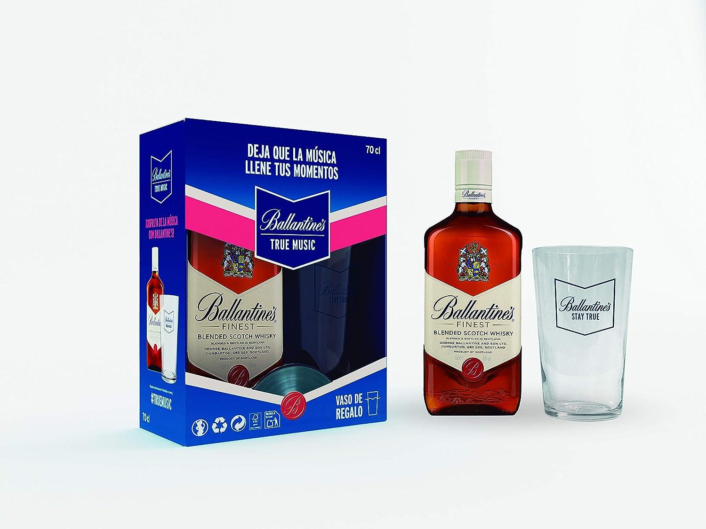 Ballantines Finest Whisky Escocés de Mezcla - 700ml + Regalo Vaso ...