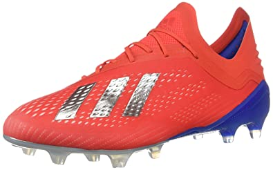 pretty nice 72749 c8cf1 adidas X 18.1 FG Cleat - Men's Soccer Action Red/Silver Metallic/Blue