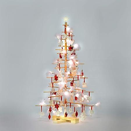 Alberi Di Natale In Legno.Xmas3 M Albero Di Natale In Legno Naturale 68 X 68 X 125 Cm Amazon It Casa E Cucina