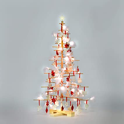 Wooden Christmas Tree Medium 4 1ft 125cm Max 7 Days Delivery To Us