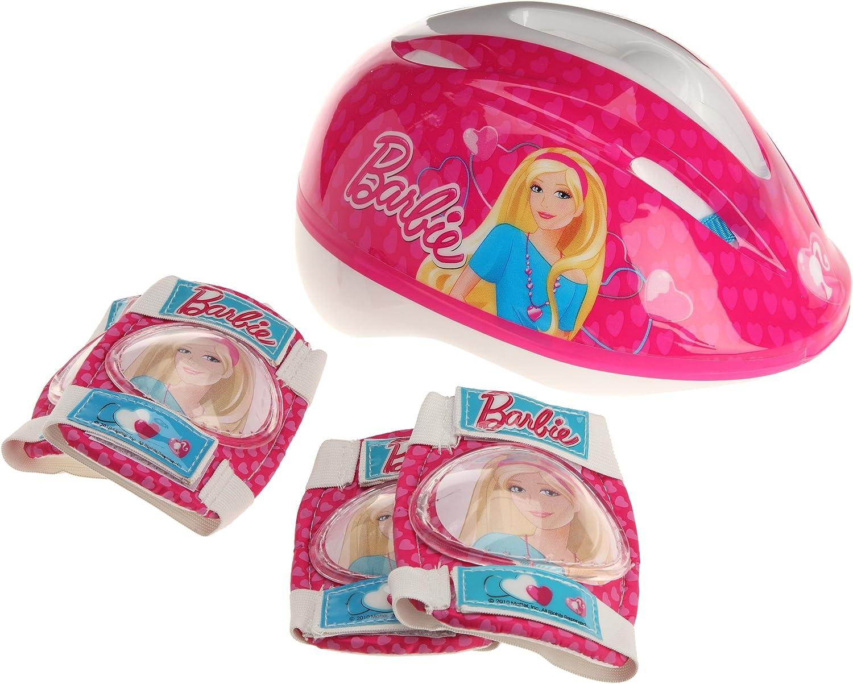 Barbie K812507 - Casco, Coderas y Rodilleras para Bicicleta, Color ...