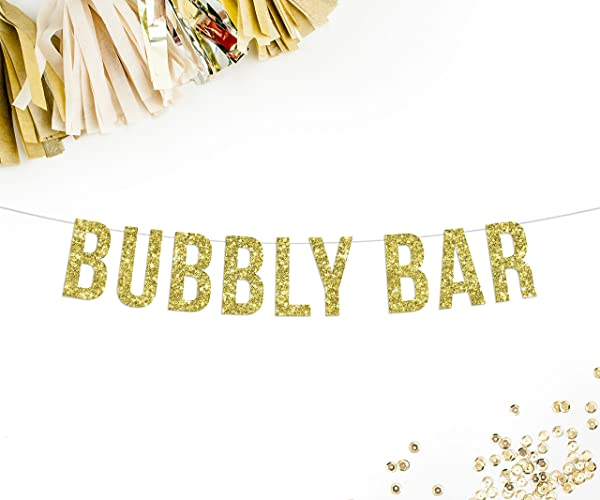 Amazon bubbly bar banner gold glitter wedding decorations bubbly bar banner gold glitter wedding decorations bachelorette party birthday party 21st junglespirit Image collections