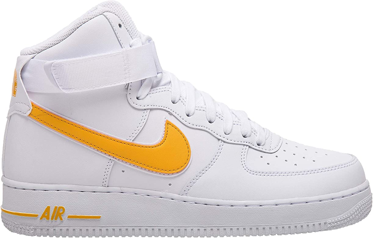 Nike Men's Air Force 1 High '07 3 Basketball Sneakers, White