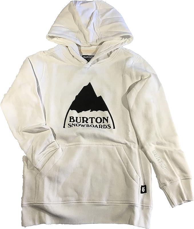 Burton Youth Mountain Sweat à Capuche avec Logo Blanc
