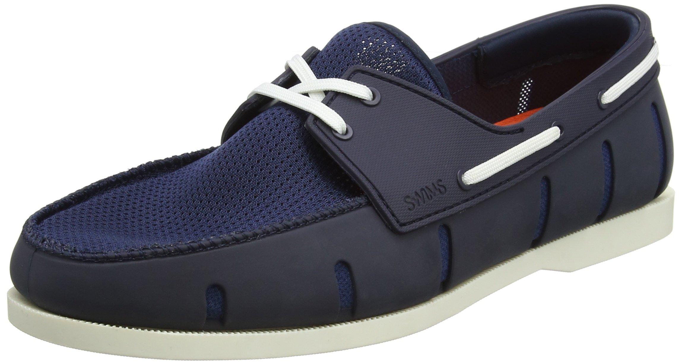SWIMS Men's Boat Loafers, Navy/White, 7 D(M) US
