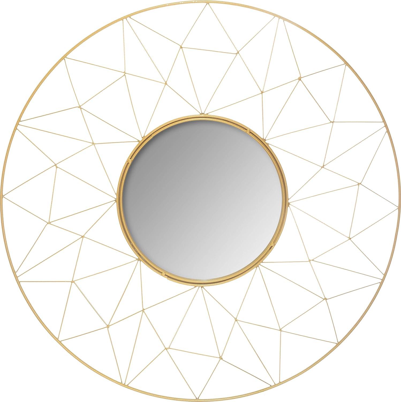 UNIVERS-DECOR Miroir m/étal Graphique Or diam/ètre 50 cm Atmosphera