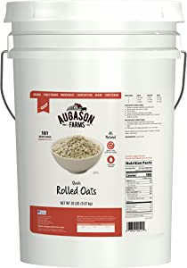Augason Farms Quick Rolled Oats Emergency Food Storage 20 Pound Pail