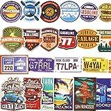 JIN SELF トラベルステッカー 【100枚セット】 スーツケース 旅行 ステッカー シール アメリカン レトロ ビンテージ 防水紙 B