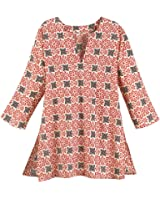 Women's Tunic Top - Dede Floral Red White Graphic Cotton Shirt