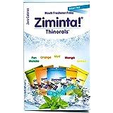 Ziminta Orange, Lemon, Mango, Pan Masala Flavoured Mint Mouth Freshener Easily Soluble Digestive Dispensable Strip (Blue, 30 Strips) - Pack of 5