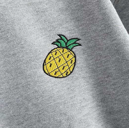 4bc7d6e1 Abetteric Women's Velvet Coat Pineapple Autumn Short Style Pullover  Embroidered Sweatshirts at Amazon Women's Clothing store: