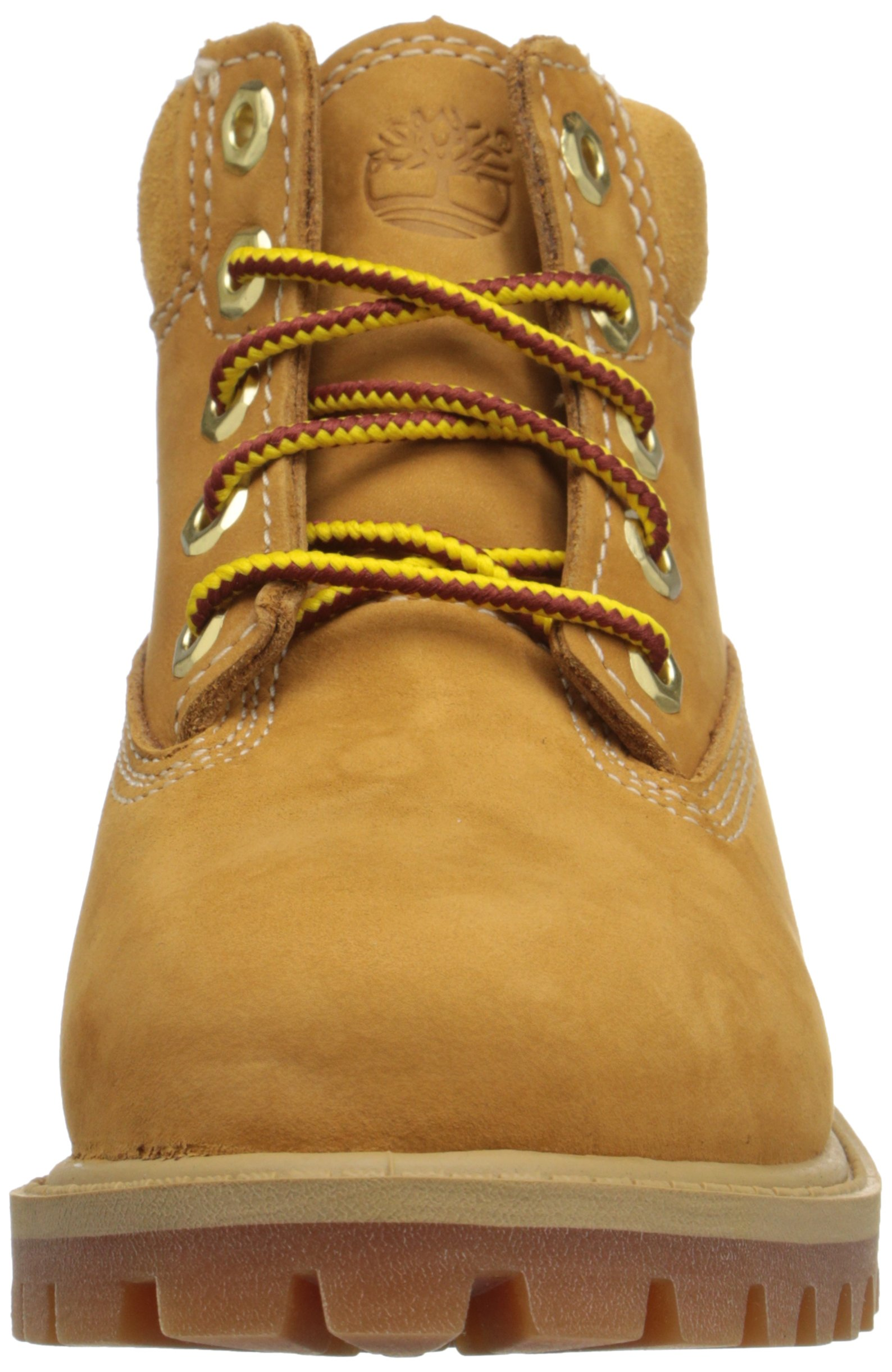 Timberland 6 Inch Premium With Faux Shearling Boot (Toddler/Little Kid/Big Kid), Wheat Nubuck, 4 M US Big Kid by Timberland (Image #4)