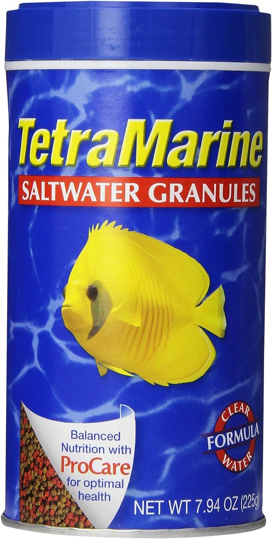 TetraMarine Saltwater Granules 7.94 Ounces, Balanced Diet For Medium To Large Marine Fish