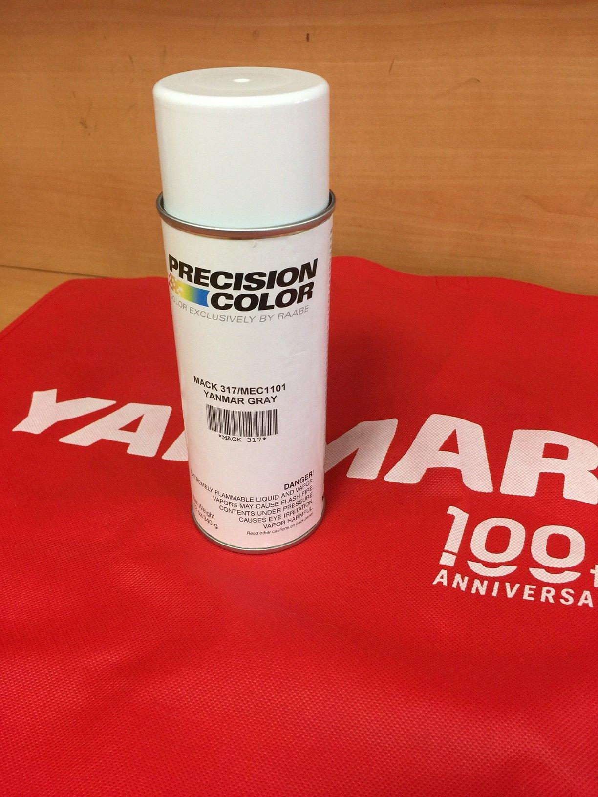 Genuine YANMAR MARINE GRAY SPRAY PAINT MACK317 / MEC1101 12 OZ
