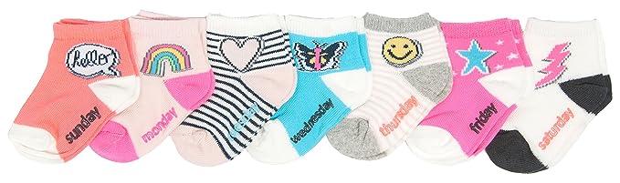 OshKosh BGosh Baby Girls 3 Pk Crew Socks 3-12 Months