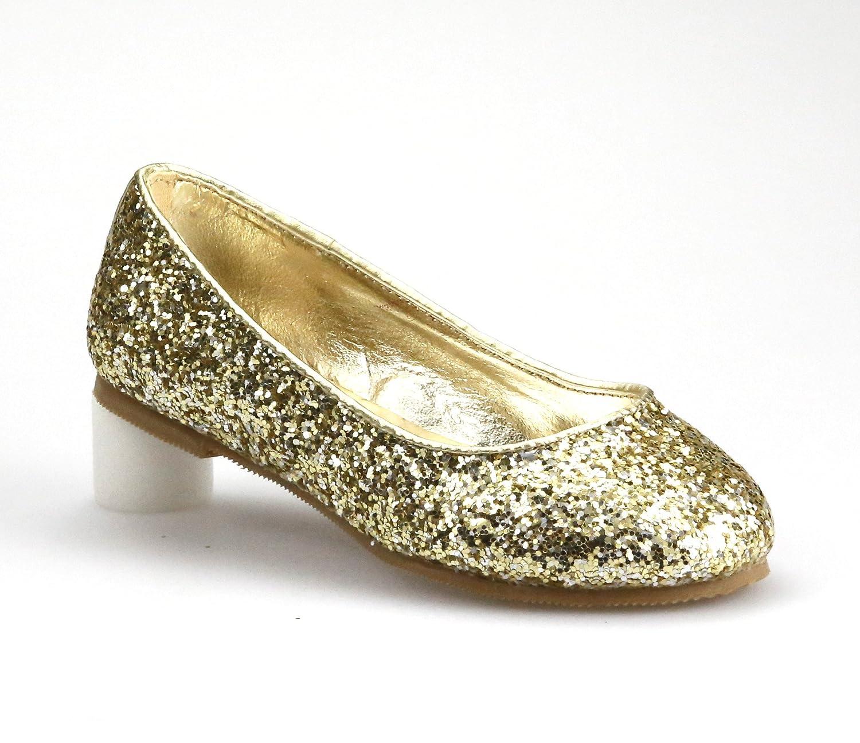 gold sparkle flat shoes