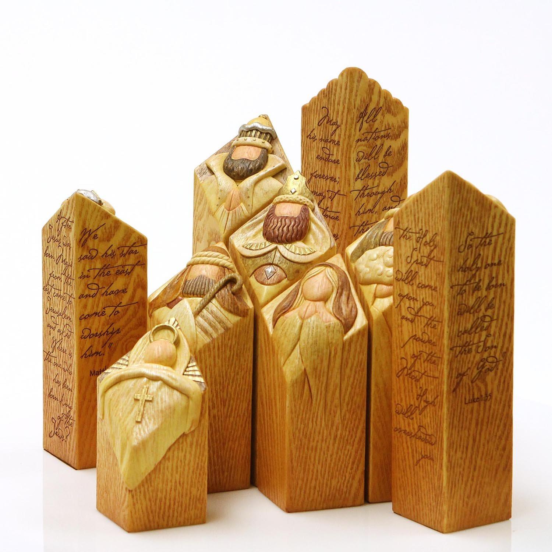 Enesco Pillars of Heaven Nativity Set